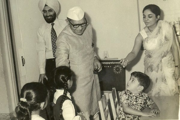 Shri Fakhruddin Ali Ahmed, former President of India interacting with The Study students