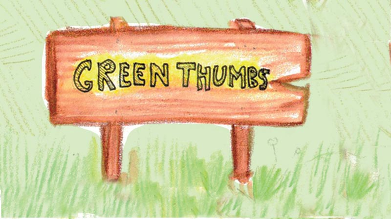 Green thumbs Signage
